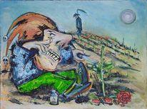 Stachel, Böse, Malerei