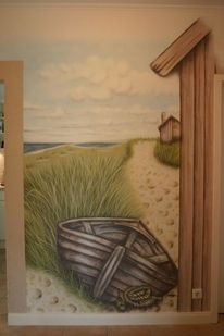 Strandhaus, Sand, Holz, Tampen