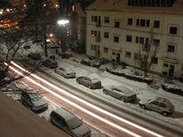 Schnee, Straßenlaterne, Winter, Eis
