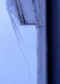 Eiszapfen, Widersetzen, Gravitation, Fotografie