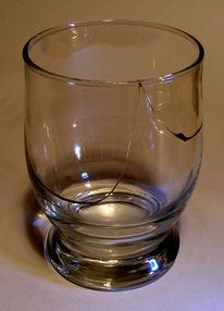 Sprung, Glas, Fotografie,