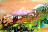 Information, Gegenstandslos abstrakt malerei, Farben, Malerei