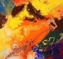 Gegenstandslos abstrakt malerei, Farbe ist information, Malerei,
