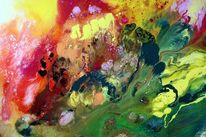 Gegenstandslos abstrakt malerei, Liebe flamme, Farbe ist information, Malerei