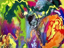 Gegenstandslos abstrakt malerei, Gegenstandslos, Farbe ist information, Malerei