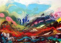 Gegenstandslos, Gegenstandslos abstrakt malerei, Farbe ist information, Malerei