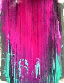 Gegenstandslos abstrakt malerei, Farbe ist information, Liebe flamme, Malerei