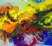Information, Farben, Gegenstandslos abstrakt malerei, Malerei