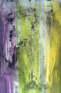 Gegenstandslos abstrakt malerei, Farbe ist information, Springtime, Malerei