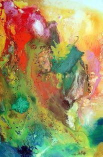 Farbe ist information, Springtime, Gegenstandslos, Gegenstandslos abstrakt malerei