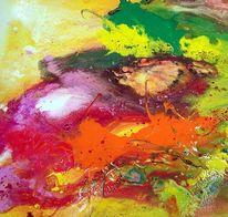 Information, Farben, Springtime, Gegenstandslos abstrakt malerei