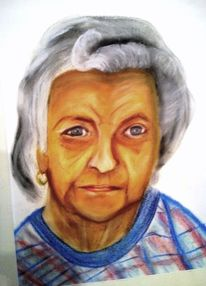 Oma großmutter portrait, Malerei, Portrait, Oma