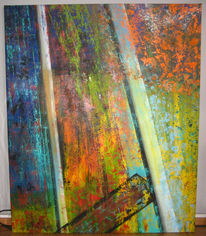 Ölmalerei, Rost, Kampf, Torso