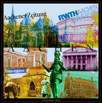 Stahl, Collage, Aachen, Grafik