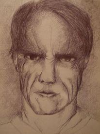 Zeichnungen, Portrait, Mörder