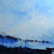 Blau, Meer, Acrylmalerei, Malerei