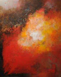 Abstrakt, Lava, Acrylmalerei, Magma