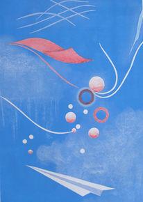 Kreide, Himmel, Zeichnungen