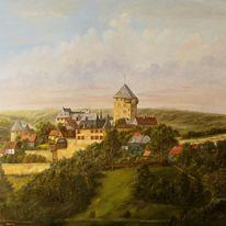 Zeitgenössischer maler, Wupper, Solingen, Himmel