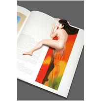 Akt, Pop art, Oben, Illustration