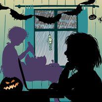 November, Jahr, Silhouetten, Kinder