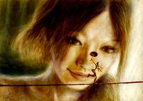 Digital, Balance, Portrait, Illustration