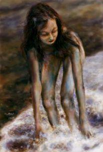 Sand, Würfelqualle, Meer, Wasser