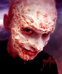 Fresse, Helloween, Maske, Photomanip