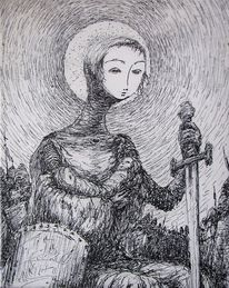 Jeanne d'arc, Traditional, Illustration, Zwillinge