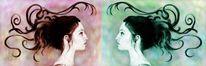 Doppelt, Profil, Portrait, Digital