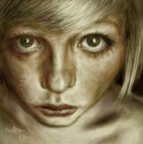 Digital, Starren, Portrait, Digitale kunst