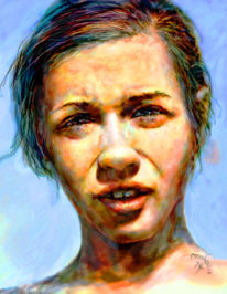Portrait, Contemporary art germany, Hyperreal, Modern