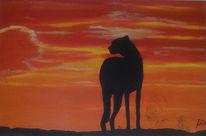 Gepard, Massai, Sonnenuntergang, Marode