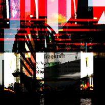 Geheimnisvoll, Leuchtturm, Rot schwarz, Skyline