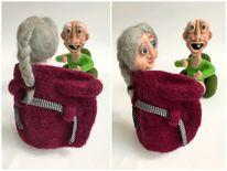 Grannies filz nadelfilzen, Menschen, Figur, Kunsthandwerk
