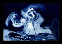 Amerika, Kolumbus, Blau, Malerei