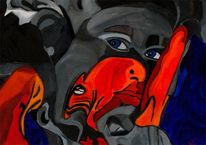 Maus, Rot, Malerei, Surreal