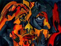 Sehnsucht, Kleinmut, Malerei, Surreal