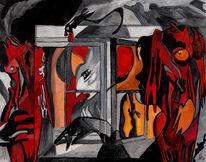 Halloween, Malerei, Surreal