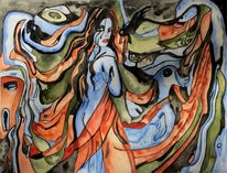 Ente, Munch, Schrei mädchen, Melancholie