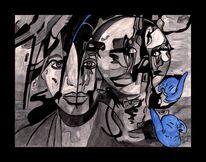 Mond, Silber, Segel, Blaue mäuse