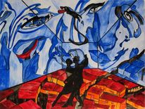 Tango, Mamelodi, Malerei, Surreal