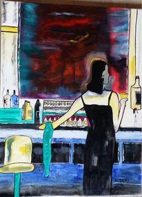 Bar, Getränk, Frau, Nacht