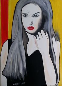 Mädchen, Frau, Junge frau, Malerei
