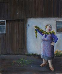 Frau ringelblumen boa, Malerei, Menschen