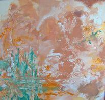 Terra, Braun, Orange, Malerei