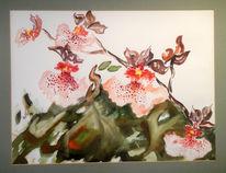 Malerei, Stillleben, Zyklus, Orchidee