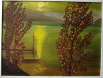 Malerei, Abendstimmung, Lago