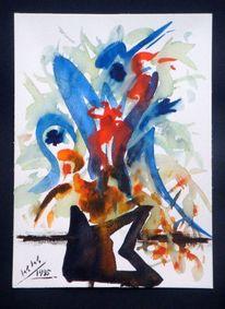Verabstrahiert, Seehausen, Aquarellmalerei, Blumenstrauß