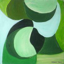 Grün, Malerei, Abstrakt,